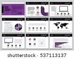 business template design set...   Shutterstock .eps vector #537113137