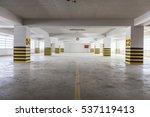 empty underground parking garage | Shutterstock . vector #537119413