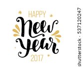 happy new year 2017 greeting... | Shutterstock . vector #537120247
