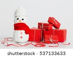 Snowmen Decoration With Red...