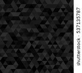 black dark triangular seamless... | Shutterstock .eps vector #537135787