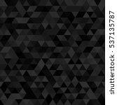 black dark triangular seamless... | Shutterstock .eps vector #537135787