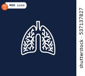 lungs icon flat.   Shutterstock .eps vector #537137827