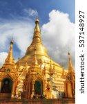 shwedagon pagoda   myanmar | Shutterstock . vector #537148927