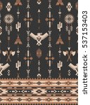 retro color tribal vector...   Shutterstock .eps vector #537153403