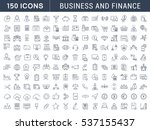 set  line icons in flat design... | Shutterstock . vector #537155437