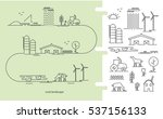 vector illustration ecology... | Shutterstock .eps vector #537156133