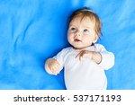 Newborn Baby Girl With Blue...