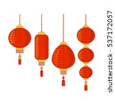 traditional chinese lanterns... | Shutterstock .eps vector #537172057