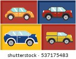 cars in set a flat vector | Shutterstock .eps vector #537175483