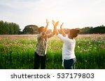 couple of man and woman in the... | Shutterstock . vector #537179803