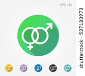 colored icon of sex symbol with ... | Shutterstock .eps vector #537183973