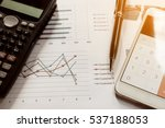 data analyzing with calculator... | Shutterstock . vector #537188053