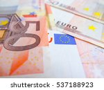 Focus On Fifty Euro Banknote