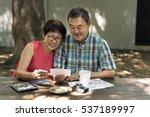 senior couple leisure outside... | Shutterstock . vector #537189997