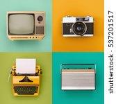 vintage   retro electronics set | Shutterstock . vector #537201517