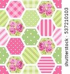 cute seamless vintage pattern... | Shutterstock .eps vector #537210103