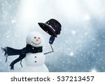 new year greeting card with... | Shutterstock . vector #537213457