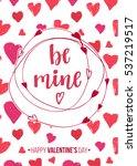 happy valentine's day. modern... | Shutterstock .eps vector #537219517