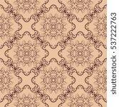 seamless ornament on background.... | Shutterstock .eps vector #537222763