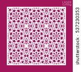 laser cut square ornamental... | Shutterstock .eps vector #537230353