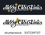christmas  banner set. merry... | Shutterstock .eps vector #537239737