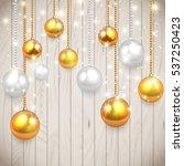 realistic vector christmas... | Shutterstock .eps vector #537250423
