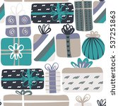 seamless pattern with different ... | Shutterstock .eps vector #537251863