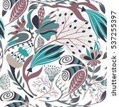 floral seamless pattern. hand... | Shutterstock .eps vector #537255397