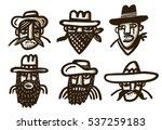 gang of bandits | Shutterstock .eps vector #537259183