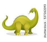 diplodocus isolated on white.... | Shutterstock .eps vector #537262093