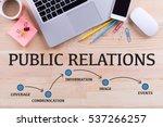 public relations milestones... | Shutterstock . vector #537266257