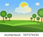 summer landscape. trees in the... | Shutterstock .eps vector #537274153