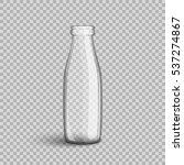 glass bottle milk. isolated on... | Shutterstock .eps vector #537274867