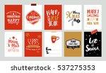 set of christmas label designs. ... | Shutterstock . vector #537275353