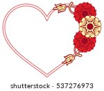 heart shaped frame with... | Shutterstock . vector #537276973