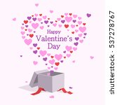 happy valentine's day card with ... | Shutterstock .eps vector #537278767