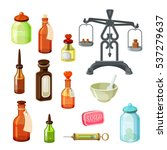 apothecary vector set. vintage... | Shutterstock .eps vector #537279637