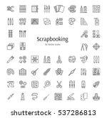 scrapbooking tools and...   Shutterstock .eps vector #537286813