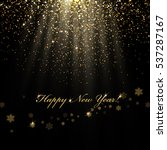 happy new year greetings and... | Shutterstock . vector #537287167