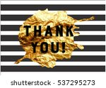 the logo with the words thank... | Shutterstock .eps vector #537295273