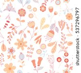 vector flower pattern. colorful ... | Shutterstock .eps vector #537296797
