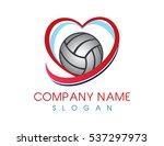 love volleyball logo | Shutterstock .eps vector #537297973