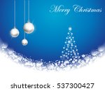 christmas background with... | Shutterstock .eps vector #537300427