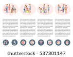 the process of giving birth... | Shutterstock .eps vector #537301147
