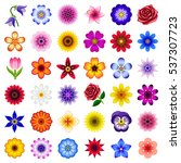 flower icon collection   vector ... | Shutterstock .eps vector #537307723