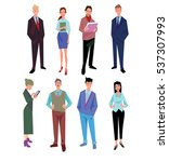 business people office vector... | Shutterstock .eps vector #537307993