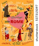 visit rome concept nonstandard... | Shutterstock .eps vector #537315097