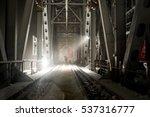 metal bridge in the russian... | Shutterstock . vector #537316777
