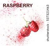 watercolor of raspberry | Shutterstock . vector #537321463